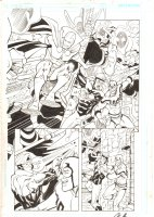 Booster Gold #34 or 35 p.9 - Mister Miracle, Blue Beetle, and Booster Gold - 2010 Signed Comic Art