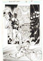 Booster Gold #41 p.10 - Booster Gold, Dr. Nishtikeit, & Goldstar - 2010 Signed Comic Art