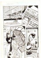 Iron Man #49 (394) p.1 - Stark in Newspaper & Iron Man on Screen - 2002 Signed Comic Art