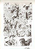 Justice League of America #119 pg11 -Despero Controls 1/2 JLA vs other half Comic Art