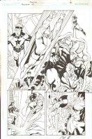 Booster #43 pg 6 - Legion of Super Heroes vs Fatale 5 / Mon-el / Others Comic Art