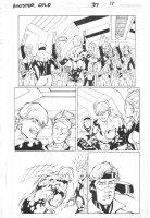 Booster Gold #37 p.17 - Booster Gold, Estrogina, & Skeets - 2010  Comic Art
