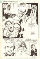 Adventures of Superman Annual #2 p.31 - Lex Luthor, Dox, and Superman Splash - 1990 Signed Comic Art