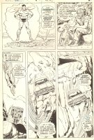 Superman Saves Car over Cliff, Guy Talks to His Animals - Signed Comic Art