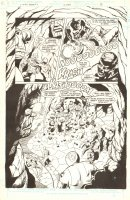 Legion of Super-Heroes Annual #2 p.11 - LA - ''Child of Darkness, Child of Light'' - Darkseid and the Fatal Five Splash - 1986 Comic Art