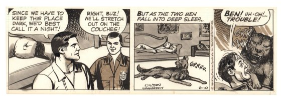 Buz Sawyer Daily Strip - Startled Dog - 8/10/1984 Comic Art