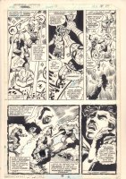 Marvel Team-Up #77 p.26 - Spider-Man, Ms. Marvel, and Doctor Strange vs. Silver Dagger - 1979 Comic Art