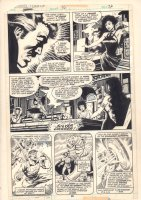 Marvel Team-Up #76 p.26 - Doctor Strange and Marie Laveau at Tarot Card Reading - 1979 Comic Art