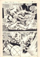 Marvel Team-Up #77 p.19 - Spider-Man and Ms. Marvel vs. Silver Dagger Action Splash - 1979 Comic Art