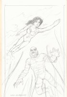 Creature from the Black Lagoon Pencil Drawing - Signed Comic Art