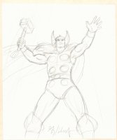 Thor Pencil Drawing - Signed Comic Art
