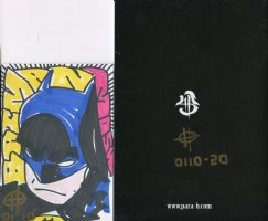 Brand New Limited Edition Self Published English/Japanese Comic: BATTLE OF THE BIG TOY  #20 of 40 with Batman Sketch (Lot F) Comic Art