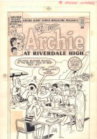 Archie Giant Series Magazine #586 Cover - Summer School at the Beach - 1988 Comic Art
