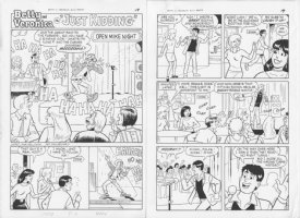 Betty & Veronica #121 'Just Kidding' 5 pager 1997 Comic Art