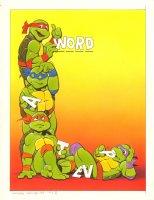 Teenage Mutant Ninja Turtles Color Puzzle Page for TMNT Magazine - 1991 Signed Comic Art