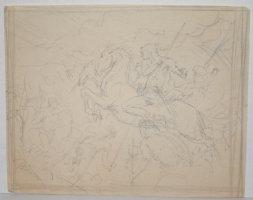Warrior on Horseback Riding into Battle Comic Art