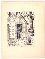 Hansel & Gretel at the Gingerbread House with the Witch Children's Book Illo - 1960s Comic Art