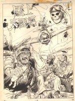 National Lampoon Splash - Japanese American G.I.'s as Devil Eating Baby Sandwich Comic Art