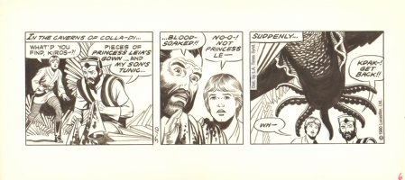 Star Wars Comic Strip - Luke Skywalker vs. Monster - 5/10/1980 Comic Art