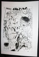 Amazing Spider-Man #328 Cover Recreation - LA - Spidey vs. the Hulk - After Todd McFarlane - Signed Comic Art