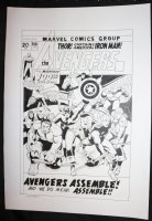 Avengers #100 Cover Recreation - LA - Barry Windsor-Smith Homage - Signed Comic Art