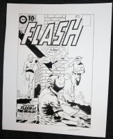 Flash #123 Cover Recreation - LA - Carmine Infantino & Murphy Anderson Homage - Flash of Two Worlds! - Signed Comic Art