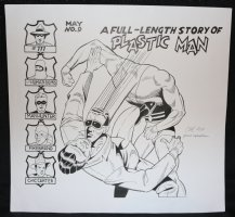 A Full-Length Story of Plastic Man #9 Re-Creation - LA - After Gill Fox - Signed Comic Art
