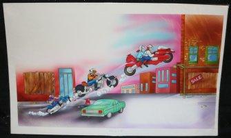 Bike Mice from Mars Color Art pgs. 2 & 3  Comic Art