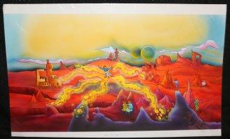 Bike Mice from Mars - Airbrush Color Art pgs. 4 & 5  Comic Art