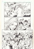 The White Viper Week 6 p.2 - Nude with Snake and Warriors Storm a Village - 2011 Comic Art