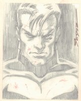 Punisher Bust Pencil Commission - Signed Comic Art