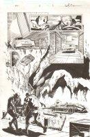 A+X #8 p.3 - Hawkeye and Deadpool Discover a Secret Base Splash - 2013 Signed Comic Art