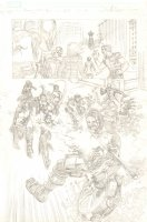 Amazing Spider-Man, The #662 p.16 - The Avengers Academy vs. Psycho-Man - 2011 Signed Comic Art