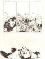 Avengers Vs. X-Men: Infinite #3 Digital Comic Page - Beaten up Iron Mana, Thor, Wolverine, and Phoenix Five Cyclops - 2012 Signed Comic Art