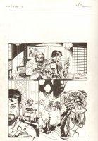 Avengers Vs. X-Men: Infinite #3 Digital Comic Page - Beast, Tony Stark, and Scarlet Witch - 2012 Signed  Comic Art