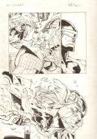Avengers Vs. X-Men: Infinite #3 Digital Comic Page - Phoenix Five Cyclops vs. Thor Action - 2012 Signed Comic Art