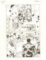 Avengers Vs. X-Men: Infinite #3 Digital Comic Page - Wolverine, Hulk, Thor, & Iron Man vs. Phoenix Five Cyclops - 2012 Signed Comic Art