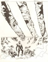 Avengers Vs. X-Men: Infinite #3 Digital Comic Page - Phoenix Five Cyclops vs. Wolverine - Magneto, Gambit, Storm, Others - 2012 Signed Comic Art