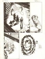 Avengers Vs. X-Men: Infinite #3 Digital Comic Page - Beast, Scarlet Witch, Tony Stark and Portal - 2012 Signed  Comic Art