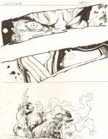 Avengers Vs. X-Men: Infinite #3 Digital Comic Page - Phoenix Five Cyclops Torches Wolverine - 2012 Signed Comic Art