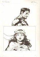 Avengers Vs. X-Men: Infinite #3 Digital Comic Page - Tony Stark and the Scarlet Witch - 2012 Signed Comic Art