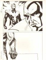 Avengers Vs. X-Men: Infinite #3 Digital Comic Page - Phoenix Five Cyclops and The Vision - 2012 Signed Comic Art