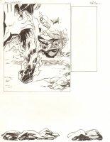 Avengers Vs. X-Men: Infinite #3 Digital Comic Page - Phoenix Five Cyclops Punches Thor - 2012 Signed Comic Art