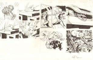 Avengers Academy Model Sheet #1 - Signed Comic Art