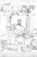 Amazing Spider-Man #652 p.8 Villian SPLASH Pencils - Signed Comic Art