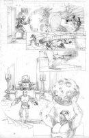 Amazing Spider-Man #653 p.6 Villian Pencils - Signed Comic Art