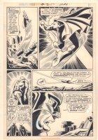 World's Finest Comics #211 p.10 - Superman Caught in Air - 1972 Comic Art