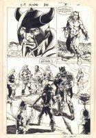 Conan the King #30 p.27 - In King Armor Dealing Judgement Splash - 1985 Signed Comic Art