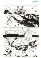 Thor #608 p.21 - Volstagg, Thor, and Sentry Action - 2010 Signed Comic Art
