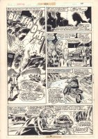 Ghost Rider #25 p.16 - Johnny Blaze Motorcycle Action - 1977 Comic Art